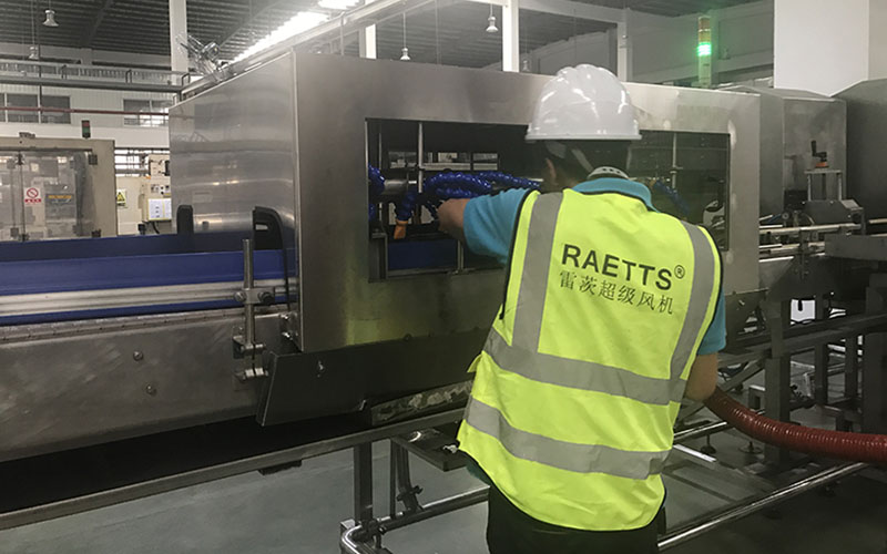 beverage bottle air drying by reatts air drying system